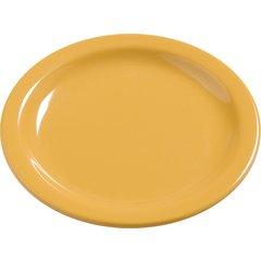 "Carlisle Melamine Bread & Butter Plate 5.5"" Honey Yellow 4385622 Case of 48"