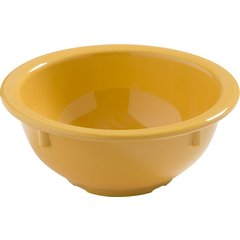 Carlisle Dayton Melamine Rim Nappie Bowl 14 oz Honey Yellow 4386022 Case of 24