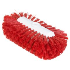 "Carlisle 4004305 Sparta Tank & Kettle Brush 5.5"" x 9"" Red Case of 12"