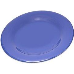 "Carlisle Melamine Dinner Plate Wide Rim 10.5"" Ocean Blue 4301014 Case of 12"