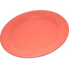 """Carlisle Melamine Dinner Plate Narrow Rim 10.5"""" Sunset Orange 4300252 Case of 12"""
