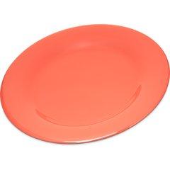"Carlisle Melamine Dinner Plate Wide Rim 10.5"" Sunset Orange 4301052 Case of 12"