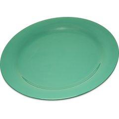 """Carlisle Melamine Dinner Plate Narrow Rim 10.5"""" Green 4300209 Case of 12"""