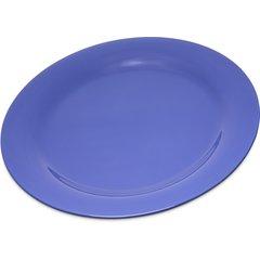 """Carlisle Melamine Dinner Plate Narrow Rim 10.5"""" Ocean Blue 4300214 Case of 12"""