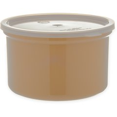 Carlisle Poly-Tuf Crock w/Lid 1.5 qt Beige 034306 Case of 6