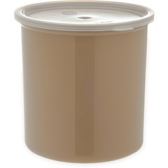 Carlisle Poly-Tuf Crock w/Lid 2.7 qt Beige 034206 Case of 6