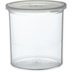 Carlisle Classic Crock w/Lid 1.2 qt Clear 030107 Case of 12
