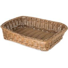 655225 Woven Baskets Rectangular Basket 11 5 Tan Carlisle Foodservice Products