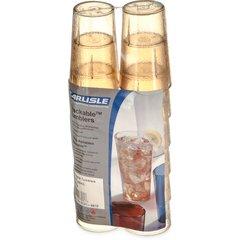 Carlisle 5216-8113 BPA Free Plastic Stackable Tumbler Pack of 6 16 oz. Amber