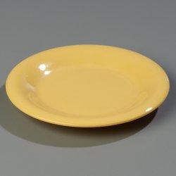 3301822 - Sierrus™ Melamine Wide Rim Pie Plate 6.5\  - Honey Yellow & 3301822 - Sierrus™ Melamine Wide Rim Pie Plate 6.5\