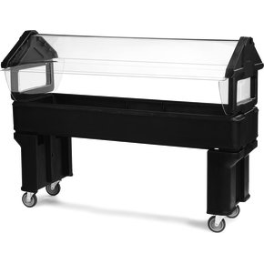 660605 - Six Star™ Portable Food Bar with Legs 6' x 2' x 4.2' - Red