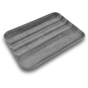 "1814WFG063 - Glasteel™ Wood Grain Rectangular Tray 18"" x 14"" - Pecan"