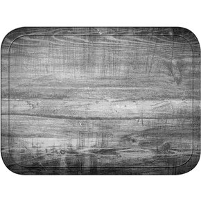 "1612WFG063 - Glasteel™ Wood Grain Rectangular Tray 16.4"" x 12"" - Pecan"