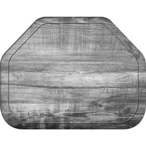 """1713WFG065 - Glasteel™ Wood Grain Trapezoid Tray 18"""" x 14"""" - Light Oak"""