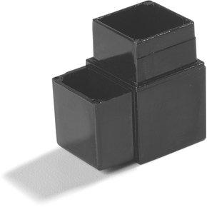 "900431 - Sneeze Guard Assembly Blocks 1"" 90* 2 Prong - Gray"