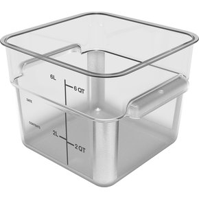 11952AF07 - Squares Polycarbonate Food Storage Container 6 qt - Clear