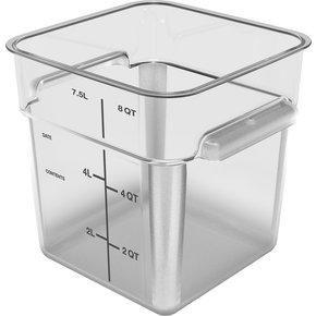 11953AF07 - Squares Polycarbonate Food Storage Container 8 qt - Clear