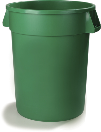 34105509 bronco round waste bin trash container 55 gallon green carlisle foodservice products - Garden waste containers ...