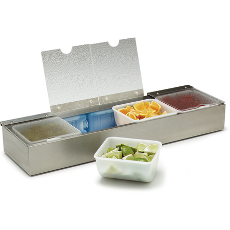 "38704CSIB - 4qt Condiment Caddies 25-1/8"", 7-5/8"", 3-5/8"" - Stainless Steel"