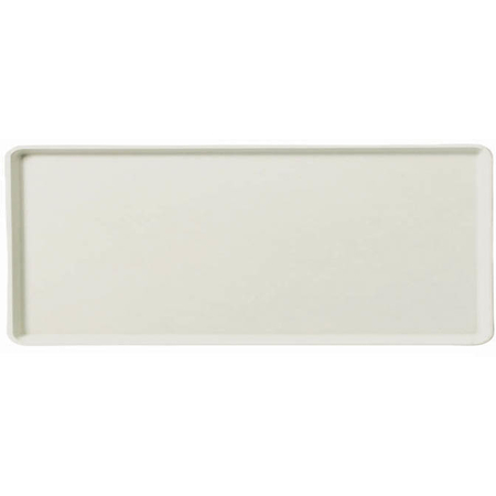 "1222LFG001 - Glasteel™ Solid Low Edge Tray 21.1"" x 12.1"" - Bone White"