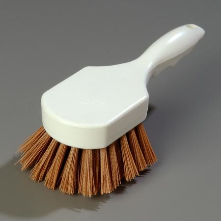"""4054125 - Sparta® Utility Scrub Brush with Polyester Bristles 8"""" x 3"""" - Tan"""