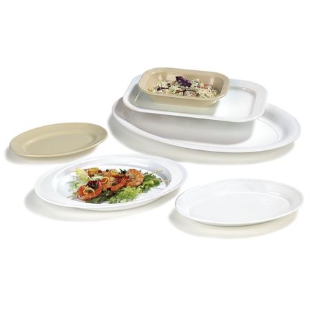 """ARR11202 - Melamine Oval Platter Tray 14.75"""" x 10.5"""" - White"""