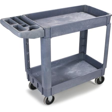 """UC401823 - Bin Top 2 Shelf Utility Cart 40"""" x 17.25"""" - Gray"""