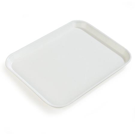 "1612FG001 - Glasteel™ Solid Rectangular Tray 16.4"" x 12"" - Bone White"