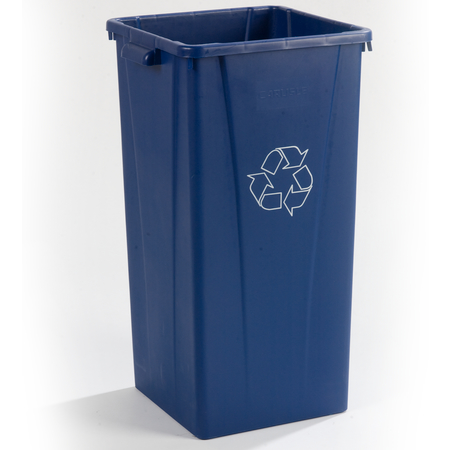 343523REC14 - Centurian™ Square Tall RECYCLE Waste Container 23 Gallon - Blue