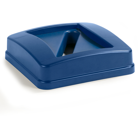 343526REC14 - Centurian™ Square RECYCLE Waste Container Lid with Paper Receptacle 23 Gallon - Blue
