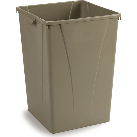 34393506 - Centurian™ Square Waste Container Trash Can 35 Gallon - Beige