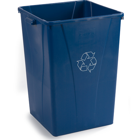 343935REC14 - Centurian™ Square RECYCLE Waste Container 35 Gallon - Blue
