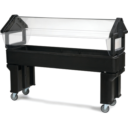 660603 - Six Star™ Portable with Legs only 6' x 2' x 4.2' - Black