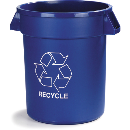 341032REC14 - Bronco™ Round RECYCLE Container 32 Gallon - Blue