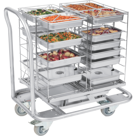 DXMTXTD - MealtimeXpress Standard Transfer Dolly - Stainless Steel