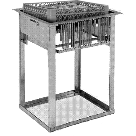 "DXIDRD1020 - Mobile Rack Dispenser, Drop In. 23.25""L x 25.19""D - Stainless Steel"