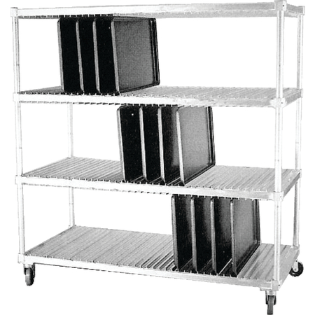 "DXIDTDR3 - Dinex® Drying Rack for 14"" x 18"" and 15"" x 20"" Flat Trays (120 Capacity) 63.75"" x 28"" x 74.5"" - Stainless Steel"