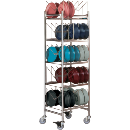 "DX1173X50 - Dinex® Drying and Storage Cart (Holds 50 Domes or 100 Bases) 19.50"" x 20.25"" x 73"" - Stainless Steel"