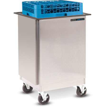 "DXIDRE1020 - Mobile Rack Dispenser, Enclosed 10""x20"" - Stainless Steel"
