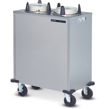 "DXPIDPH4E1200 - Dinex® Heated Enclosed Plate Dispenser - 4 Silo 12"" Plates - Stainless Steel"