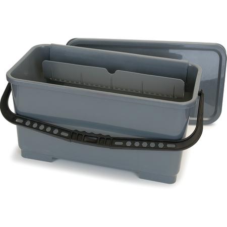 """363301923 - Rectangular Microfiber Squeegee Bucket 18"""" - Gray"""