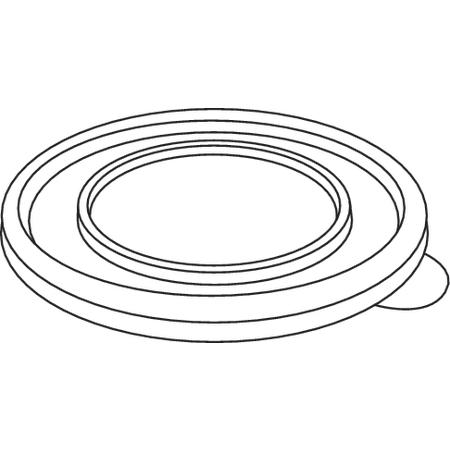 DXTT59 - Disposable Lid - Fits Specific 8 - 12 oz Dinex, Carlisle, Cambro and G.E.T. Enterprises Tumblers, Mugs and Bowls (2000/cs) - Translucent