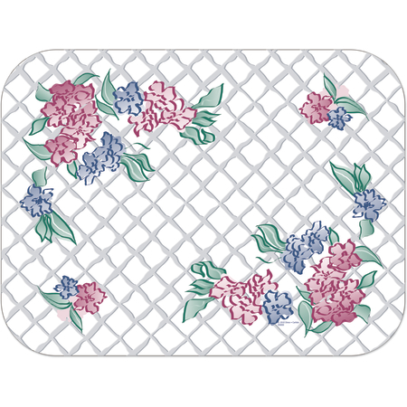 "DX5242M - Marisa Tray Cover Size: M w/ Straight Edge/Round Corner 13-5/8"" x 18-3/4"" (1000/cs)"