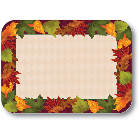 "DXHS344M001 - Autumn Colors Design Traycover Size: M w/ Straight Edge/Round Corner 13-5/8"" x 18-3/4"" (100/pk)"