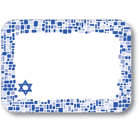 "DXHS722I001 - Shalom Design Traycover Size: I w/ Straight Edge/Round Corner 12-1/2"" x  16-1/2"" (100/pk)"