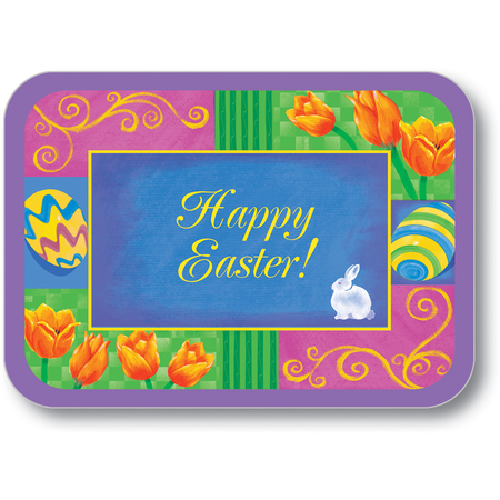 "DXHS105M001 - Happy Easter Design Traycover Size: M w/ Straight Edge/Round Corner 13-5/8"" x 18-3/4"" (100/pk)"