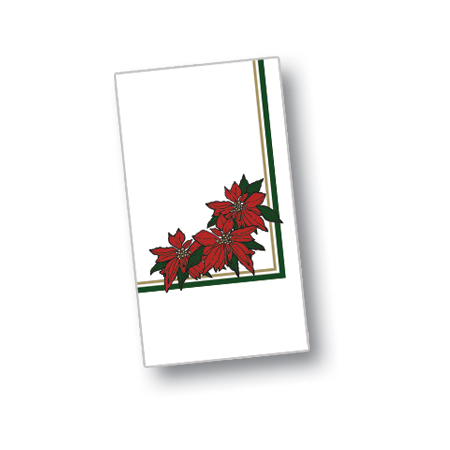 """DXH5455DN01 - Poinsettia Blossom Design Napkin 15"""" x 17"""" (1000/cs)"""