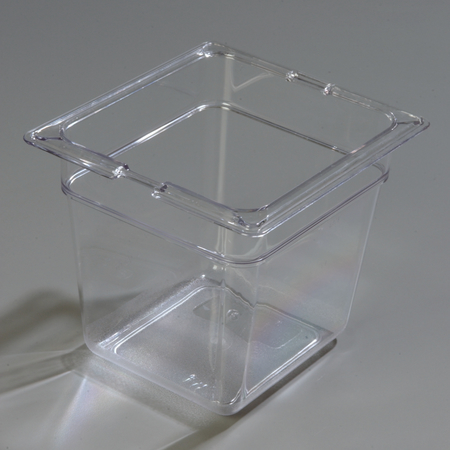 """10302-807 - TopNotch® Food Pan Banded Packs 6"""" DP 1/6 Size (3/st) - Clear"""