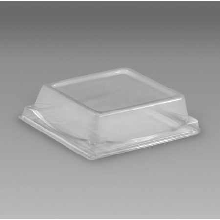 DXL5104PDCLR - Dome Lid for Square Sandwich/Dessert Container (250/cs) - Clear