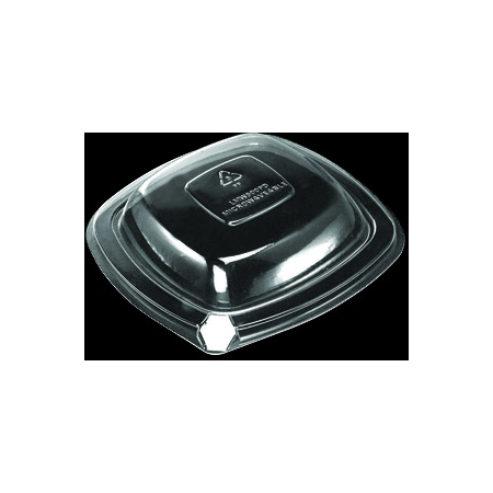 DXL500PDCLR - Dome Lid for Square Side Dish (500/cs) - Clear